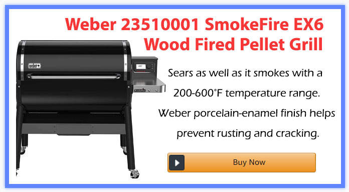 Weber 23510001 SmokeFire EX6 Wood Fired Pellet Grill